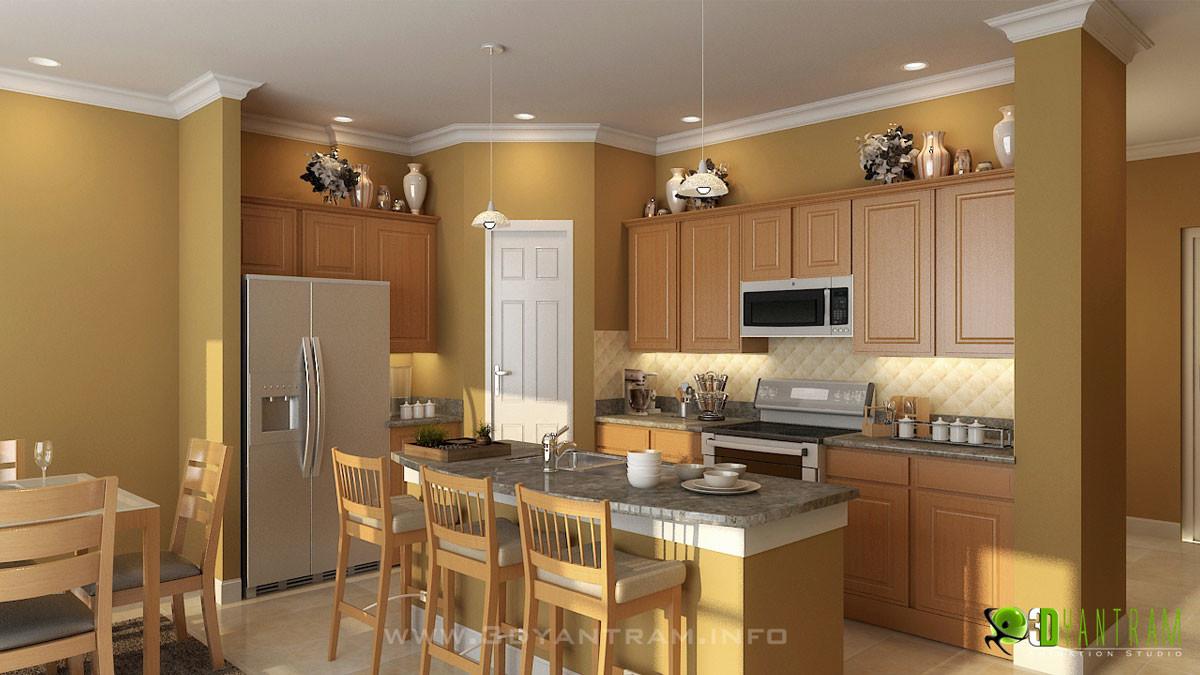 Yantram Architectural Design Studio Modern 3d Kitchen Design View