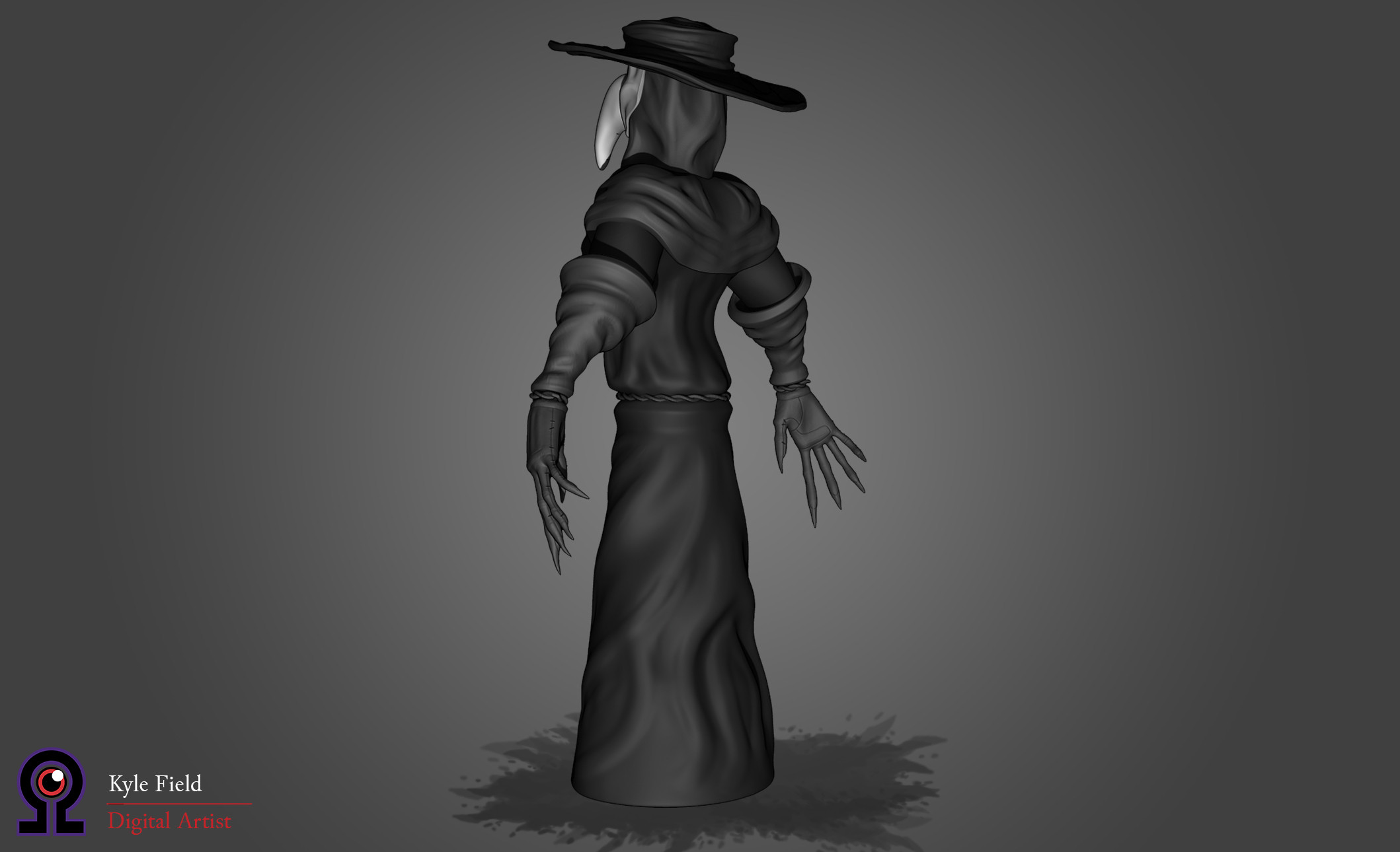 Plague Doctor: Back Quarter View