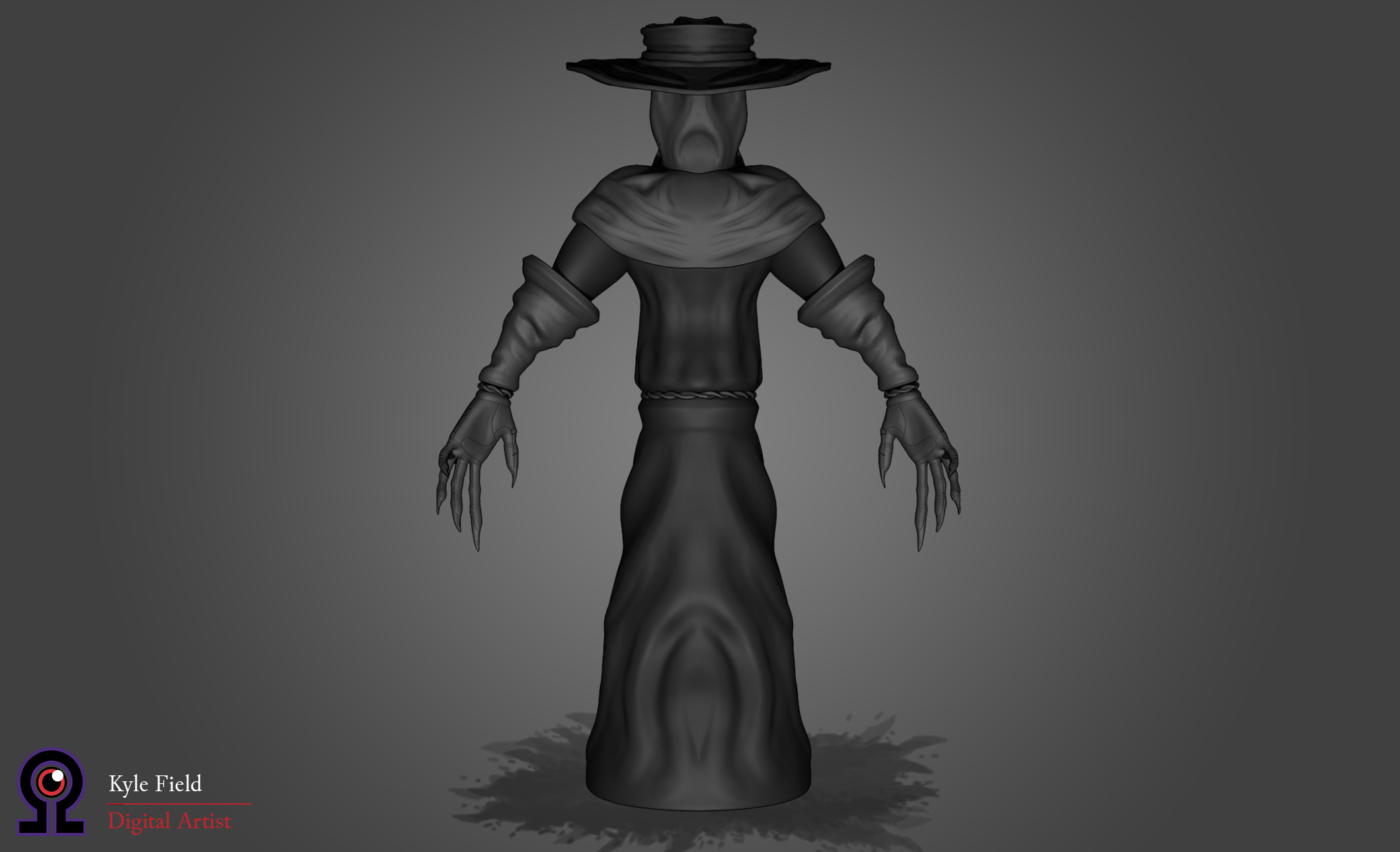 Plague Doctor: Rear View