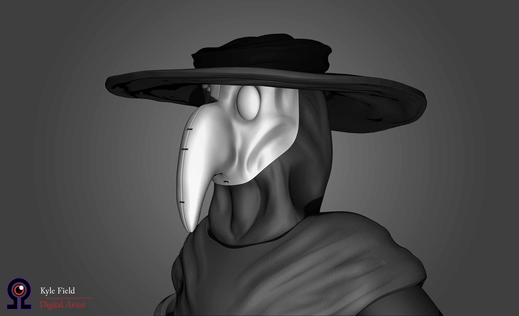 Plague Doctor: Head Detail, Front Quarter View