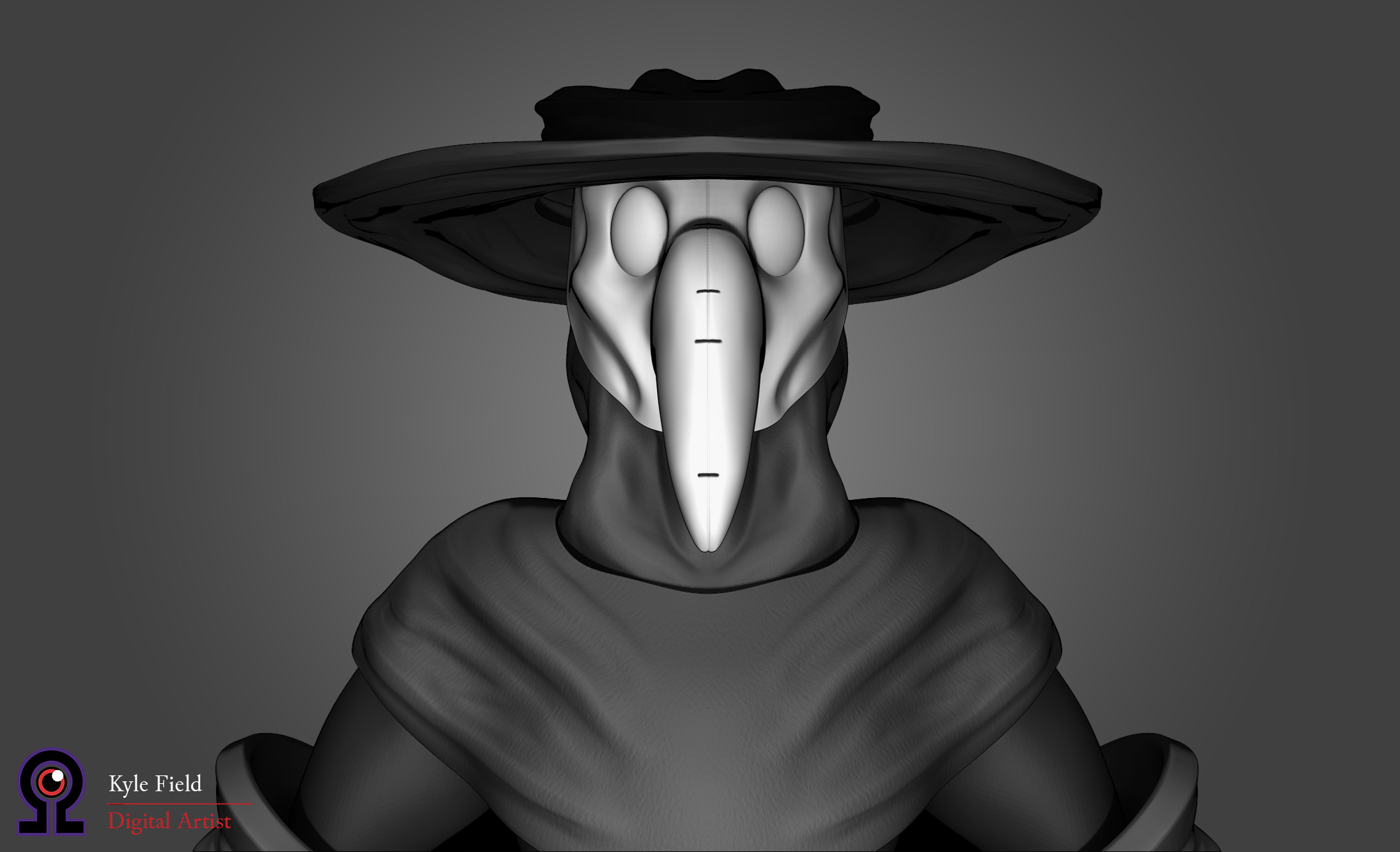 Plague Doctor: Head Detail, Front View
