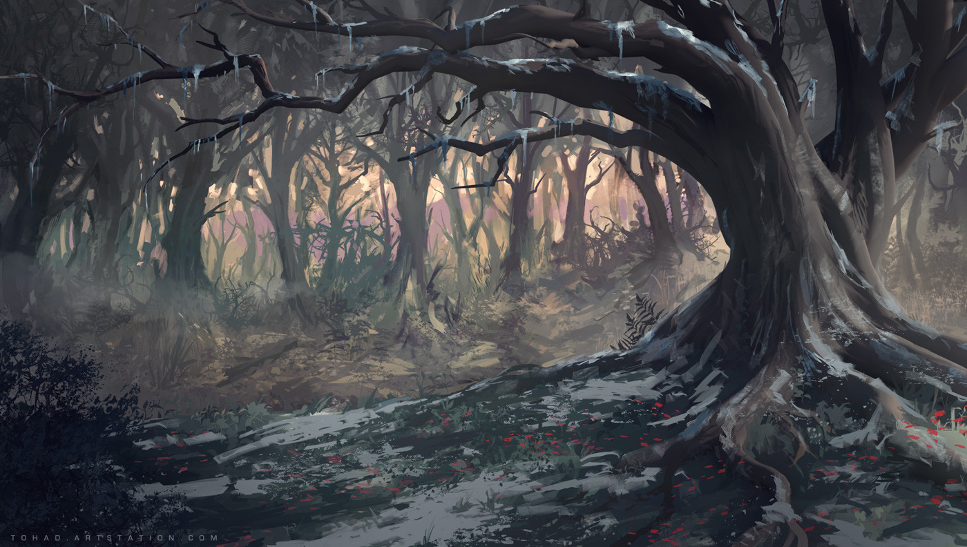 Netflix Castlevania Background : Big tree