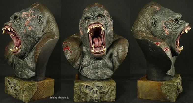 Gorilla sculpture @radziewiczsculptor b/u Michael L.