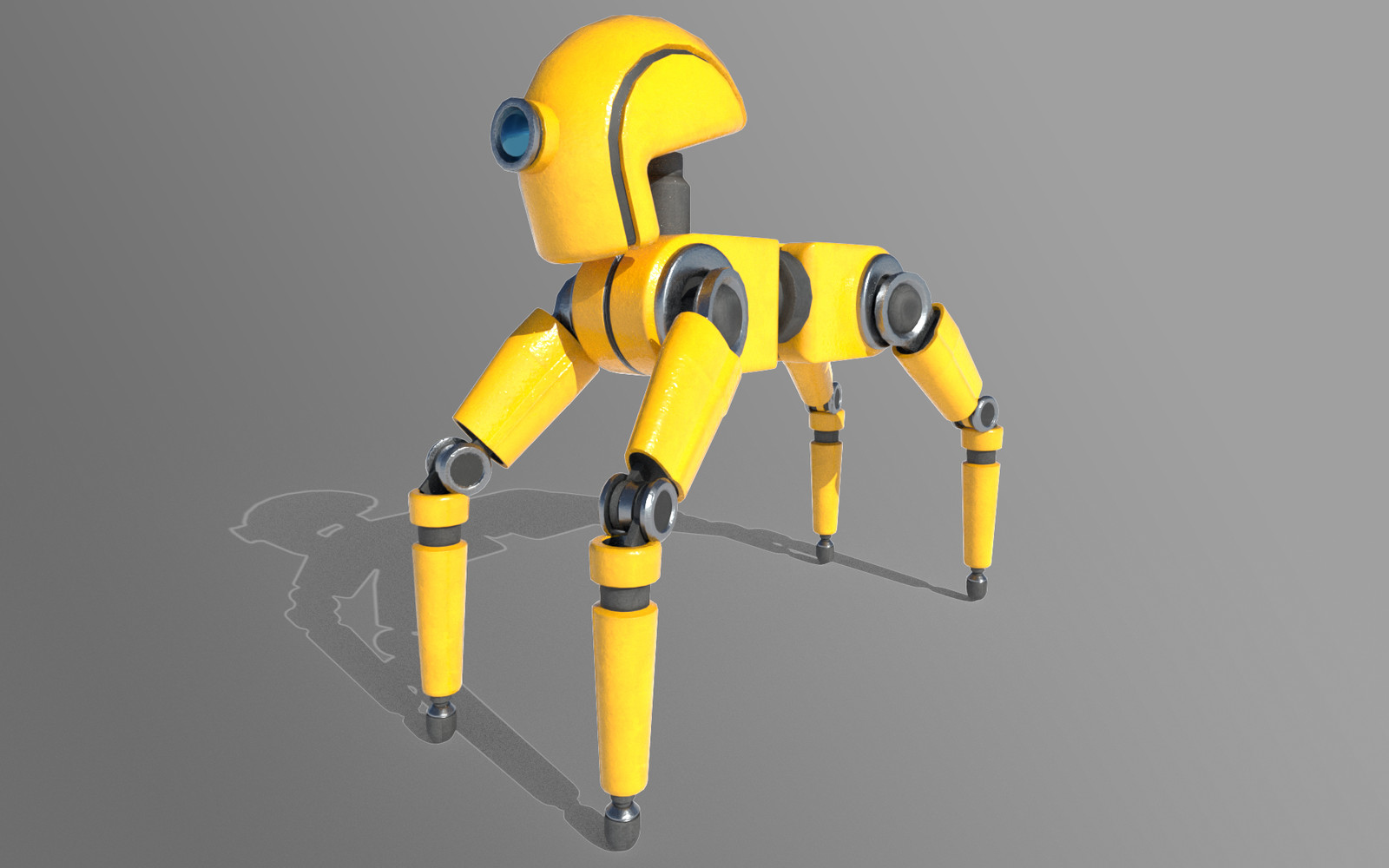 You can also pick and choose what color and materials you want the robot to be.