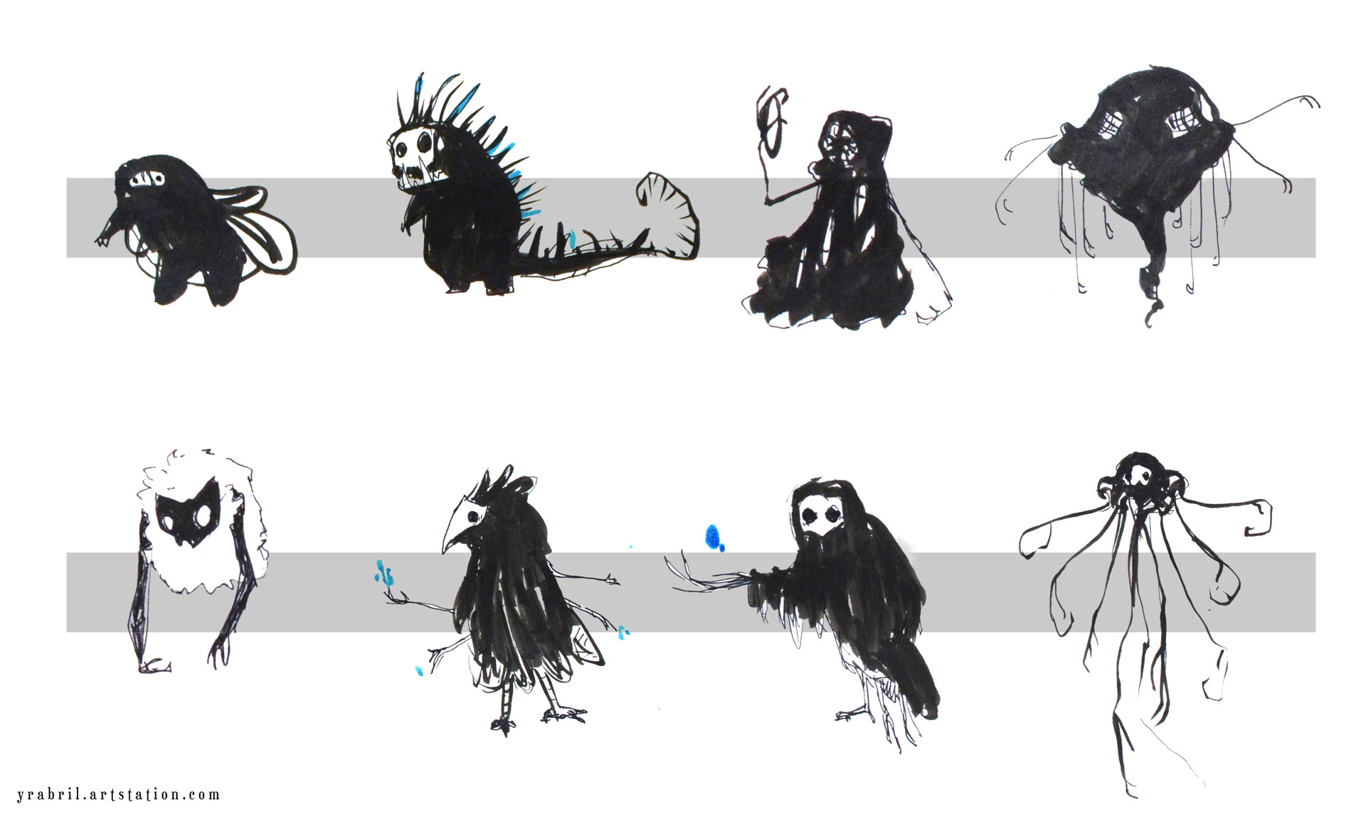 Creature design - Silumous thumbnails