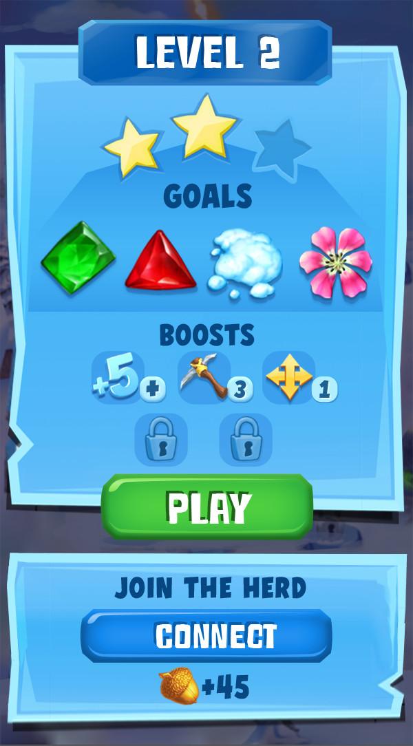 Level start screen