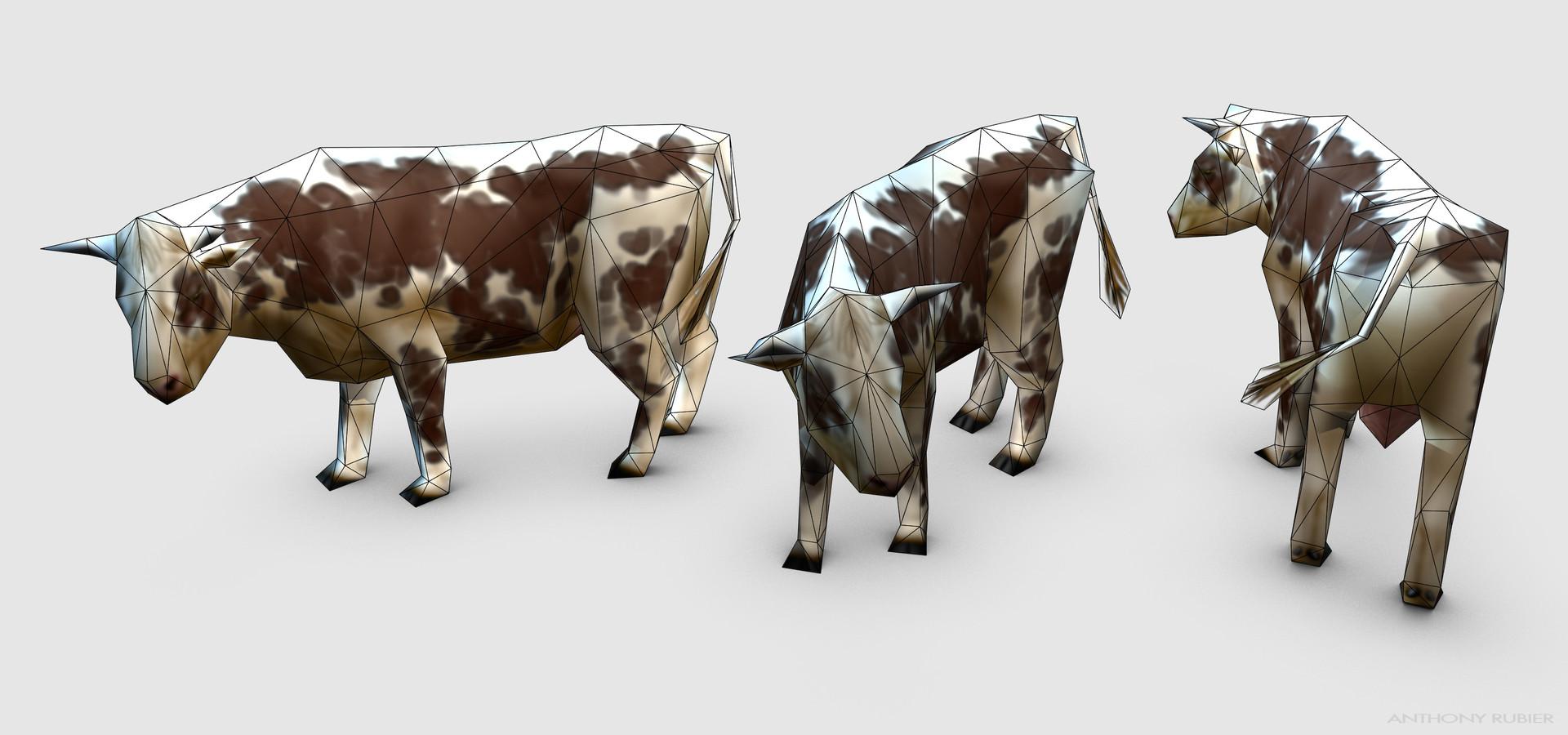 Anthony rubier render mesh vache 2