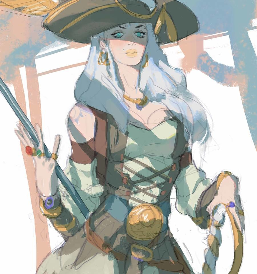 """""""Vargas"""" I wanted to sketch something different today, so I chose the pirate"""