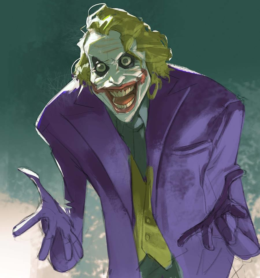 It's been awhile since my last comic fan art so... why so serious?