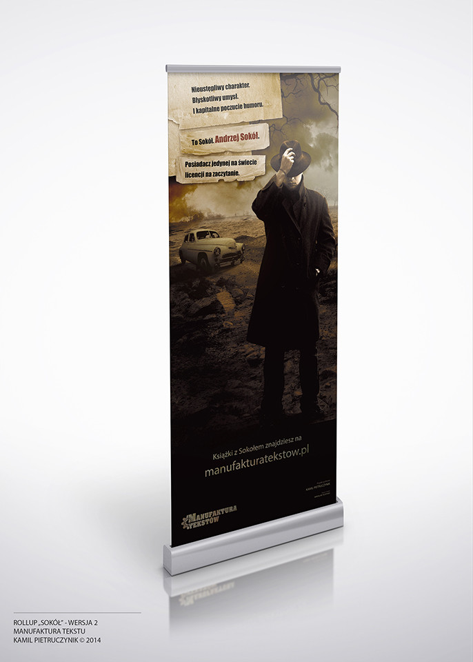 Roll-up advertising banner