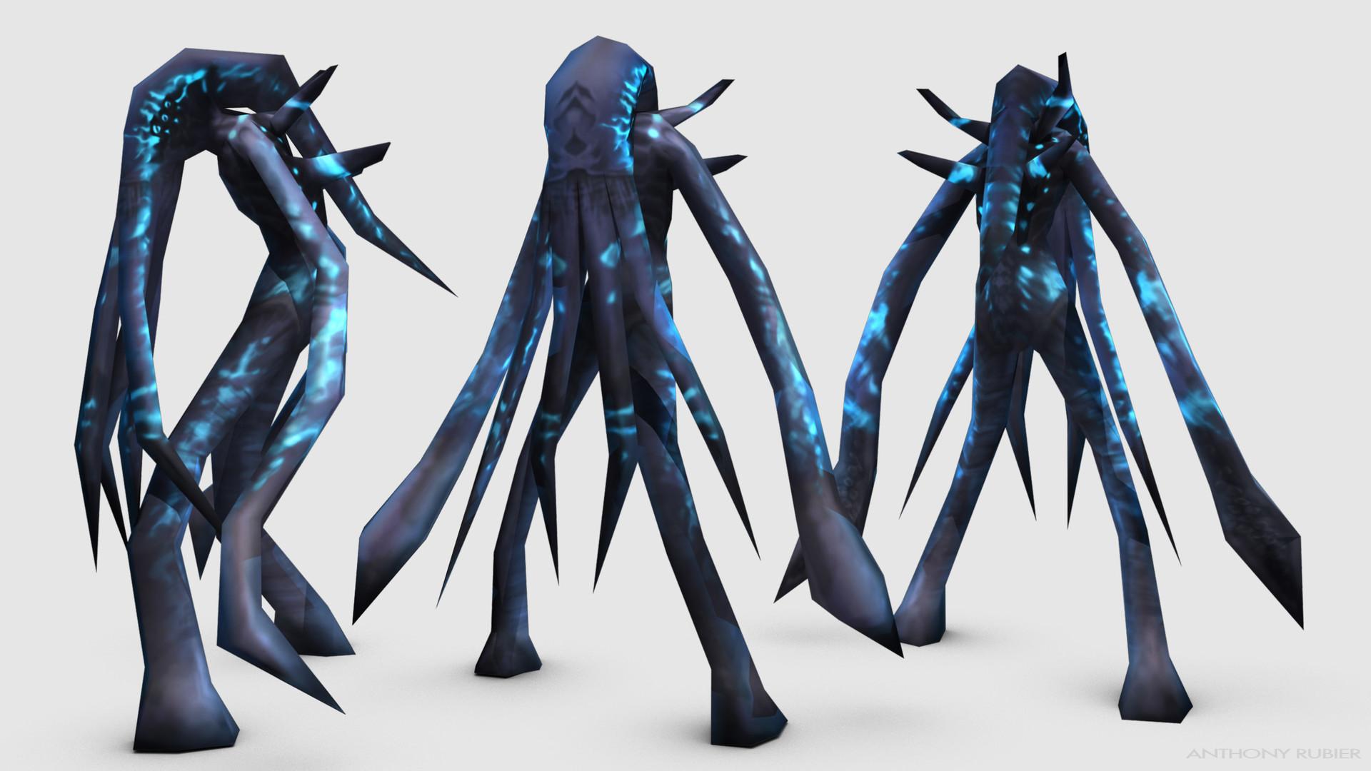 ArtStation - Cosmic Cephalopod, Anthony Rubier