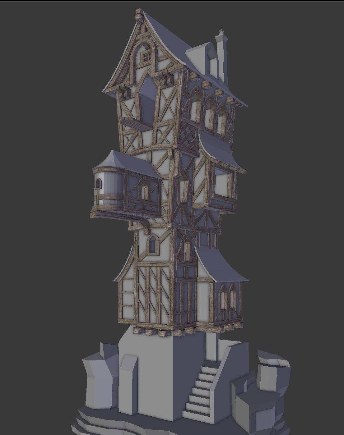 """Cliff Tower (courtesy """"Pierrick Picaut Course)"""