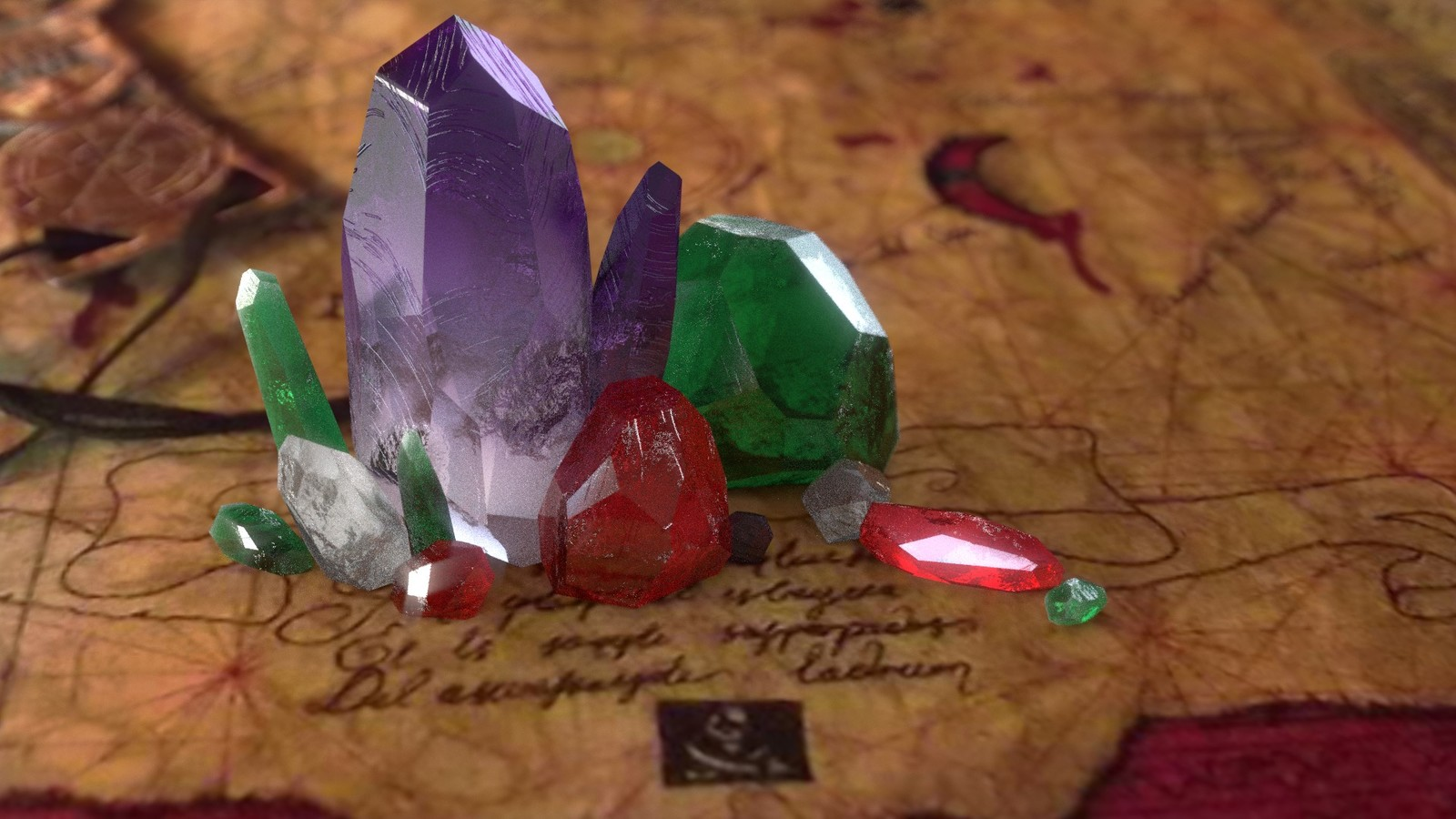 Realistic Gemstones (courtesy Kent Trammel CG Cookie Shader Course)