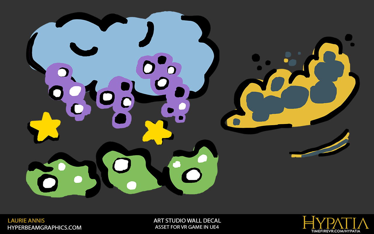 Hand painted decal: Hypatia Art Studio