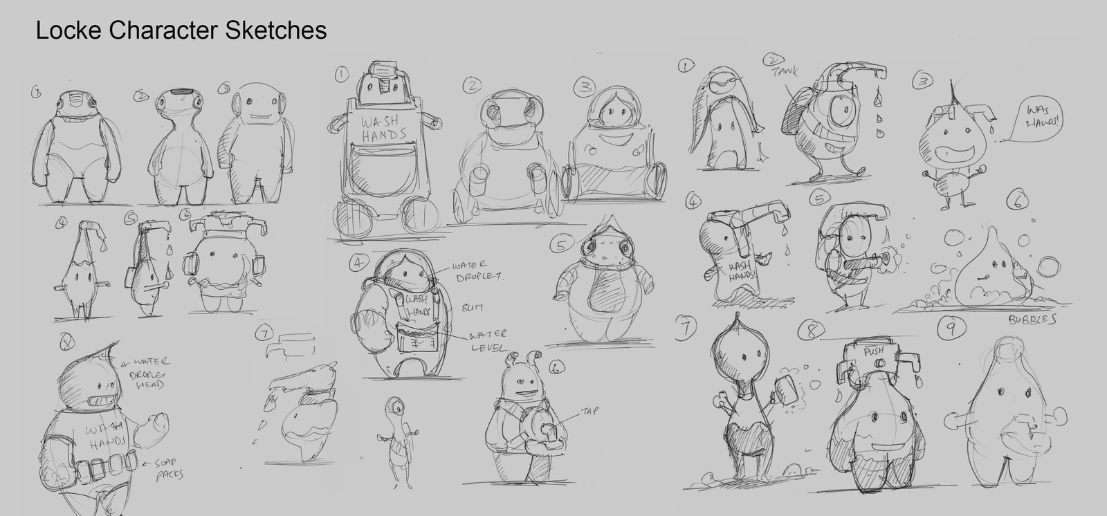 Sketches for the mascot design.