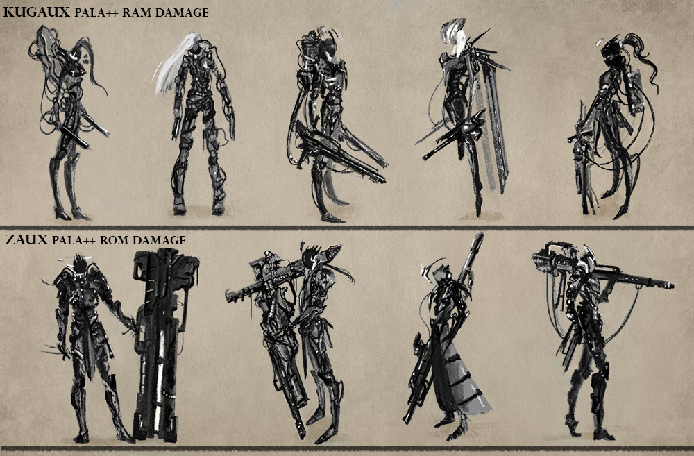 scifi apocalyptic lead female and male designs