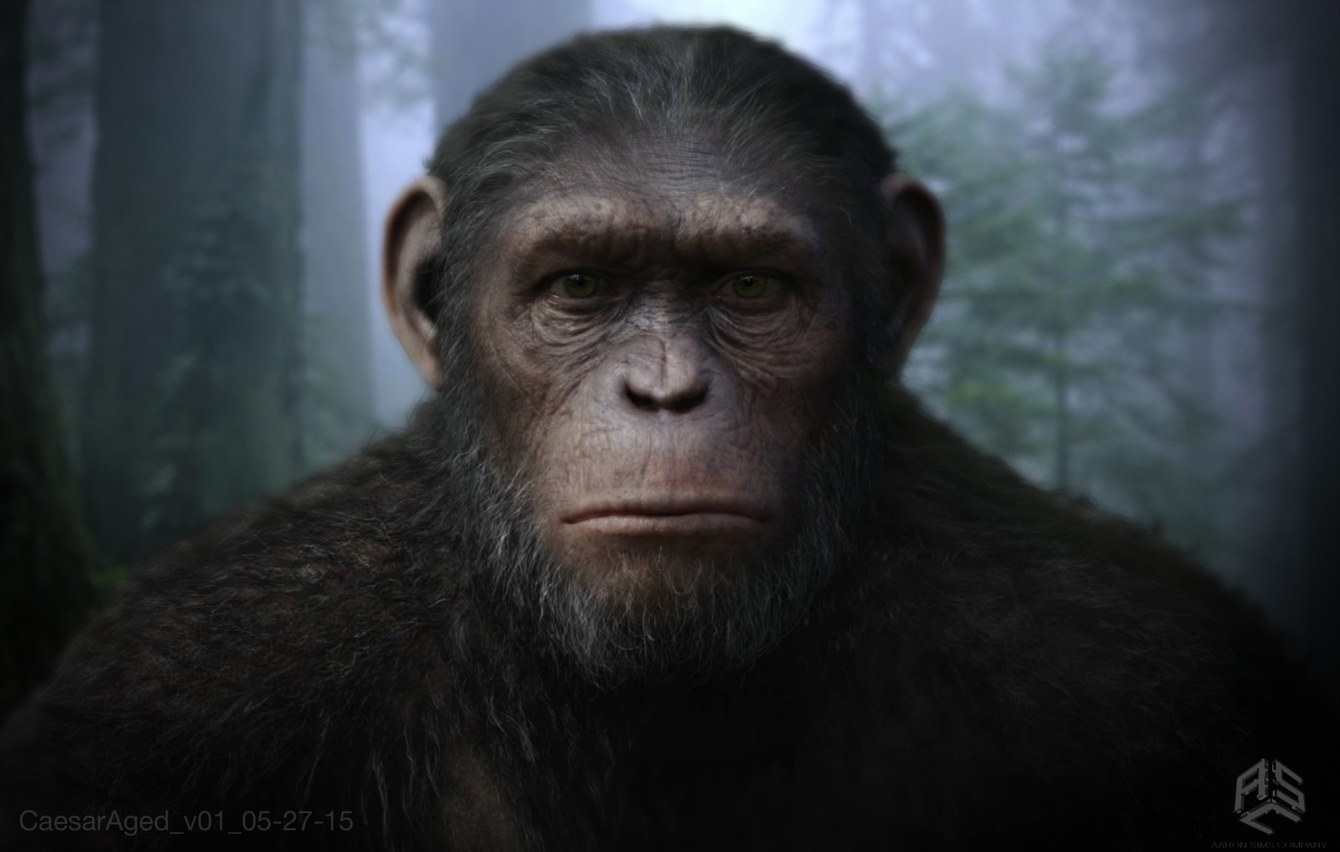 aaron sims creative war for the planet of the apes