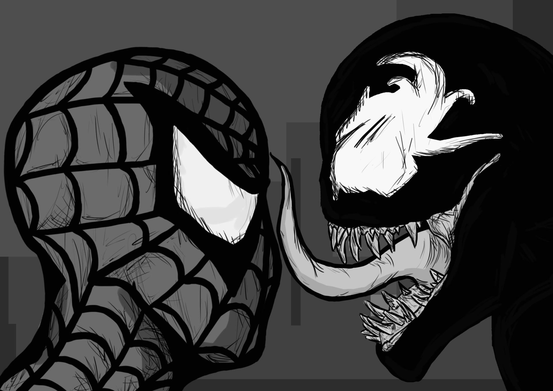 Artstation Spider Man Vs Venom Alex Wilman