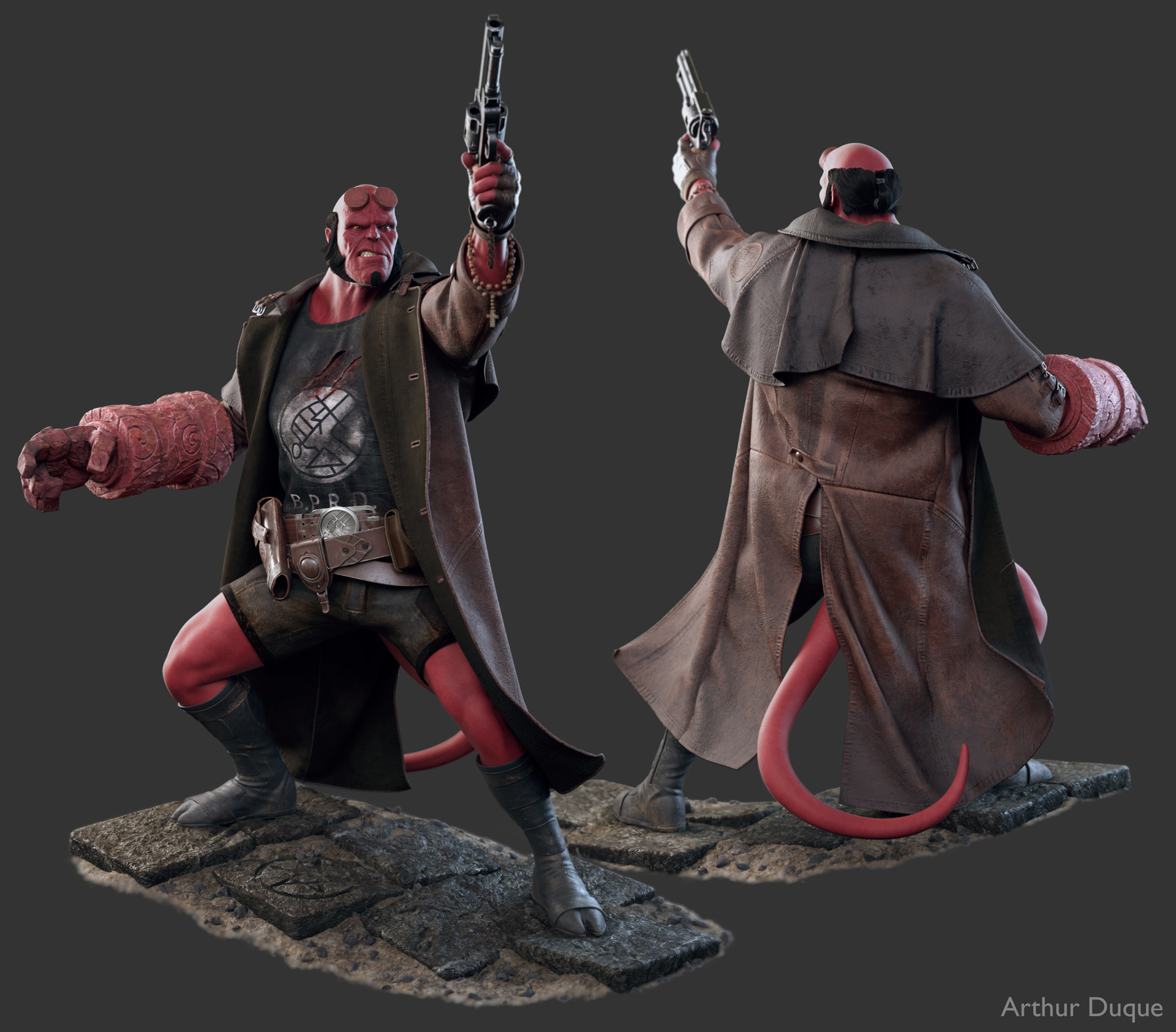 Arthur duque hellboy pose 01