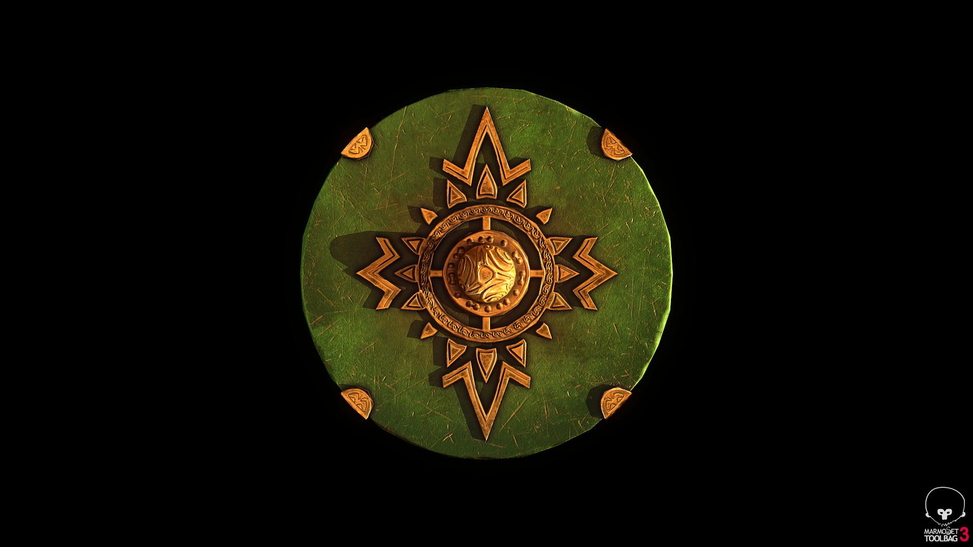 Bela csampai s4h rohan shield eorl guard 01 render mt 02