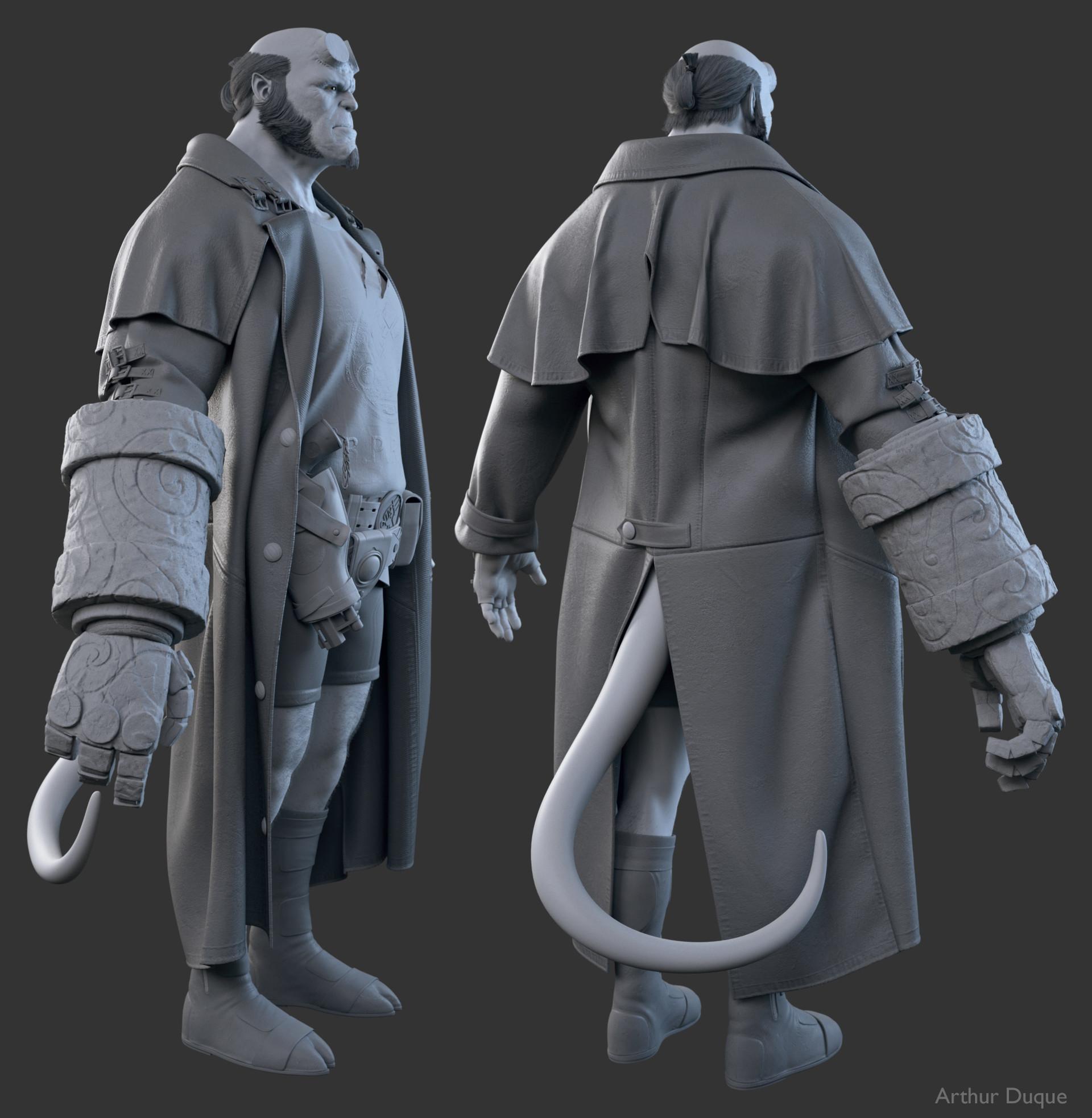 Arthur duque hellboy cinza 02