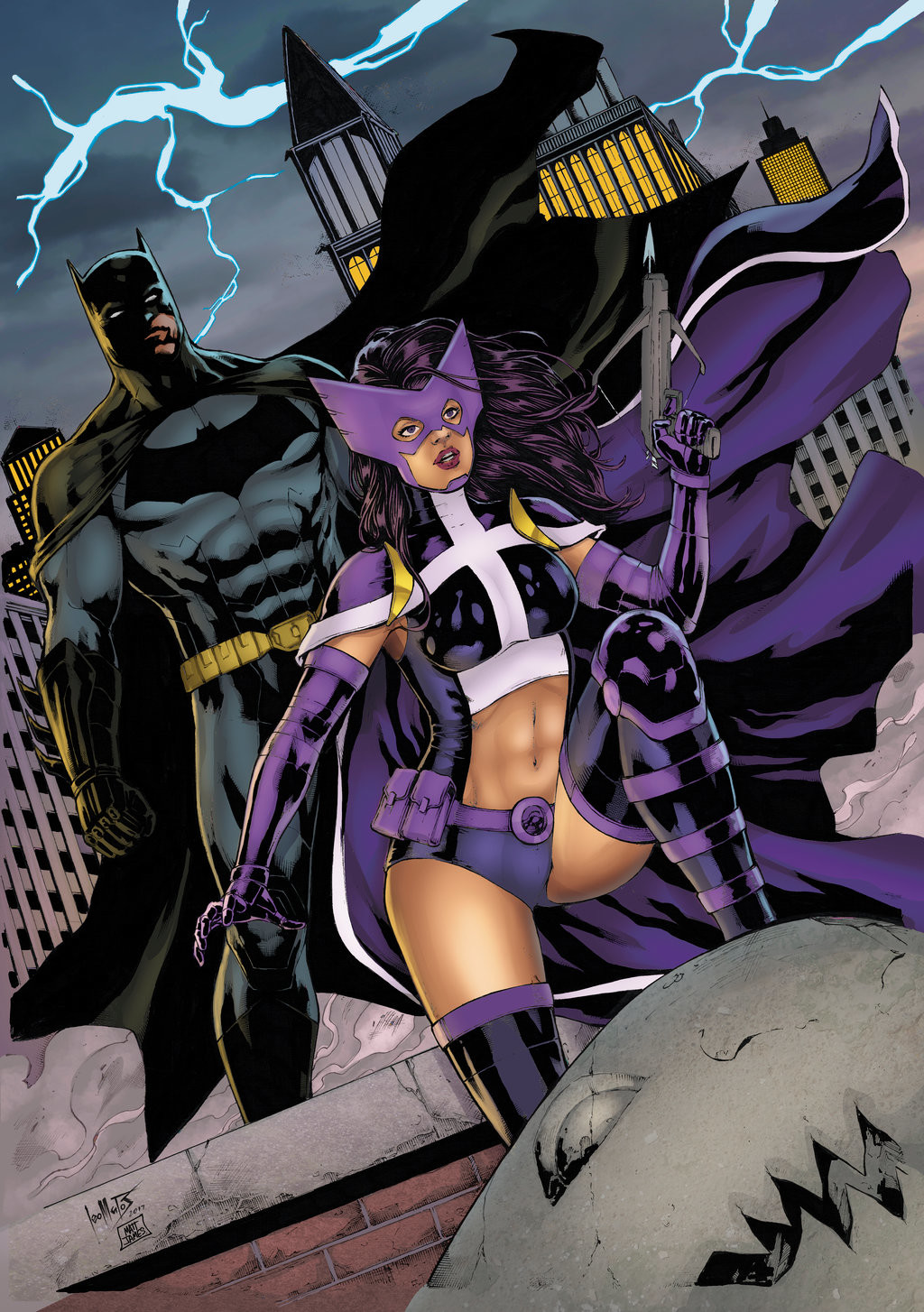 Batman and Huntress