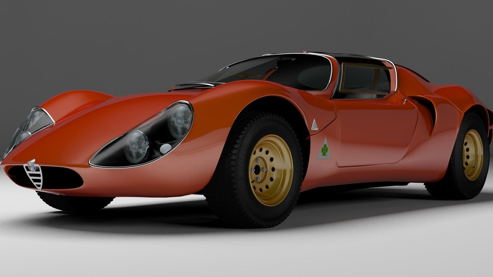 ArtStation - Alfa Romeo 33 Stradale, MARCO DINO PENNINO
