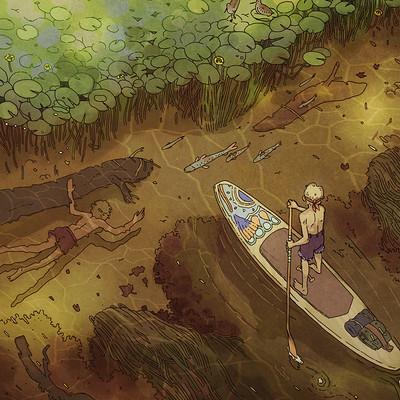 Victorin ripert river paddle