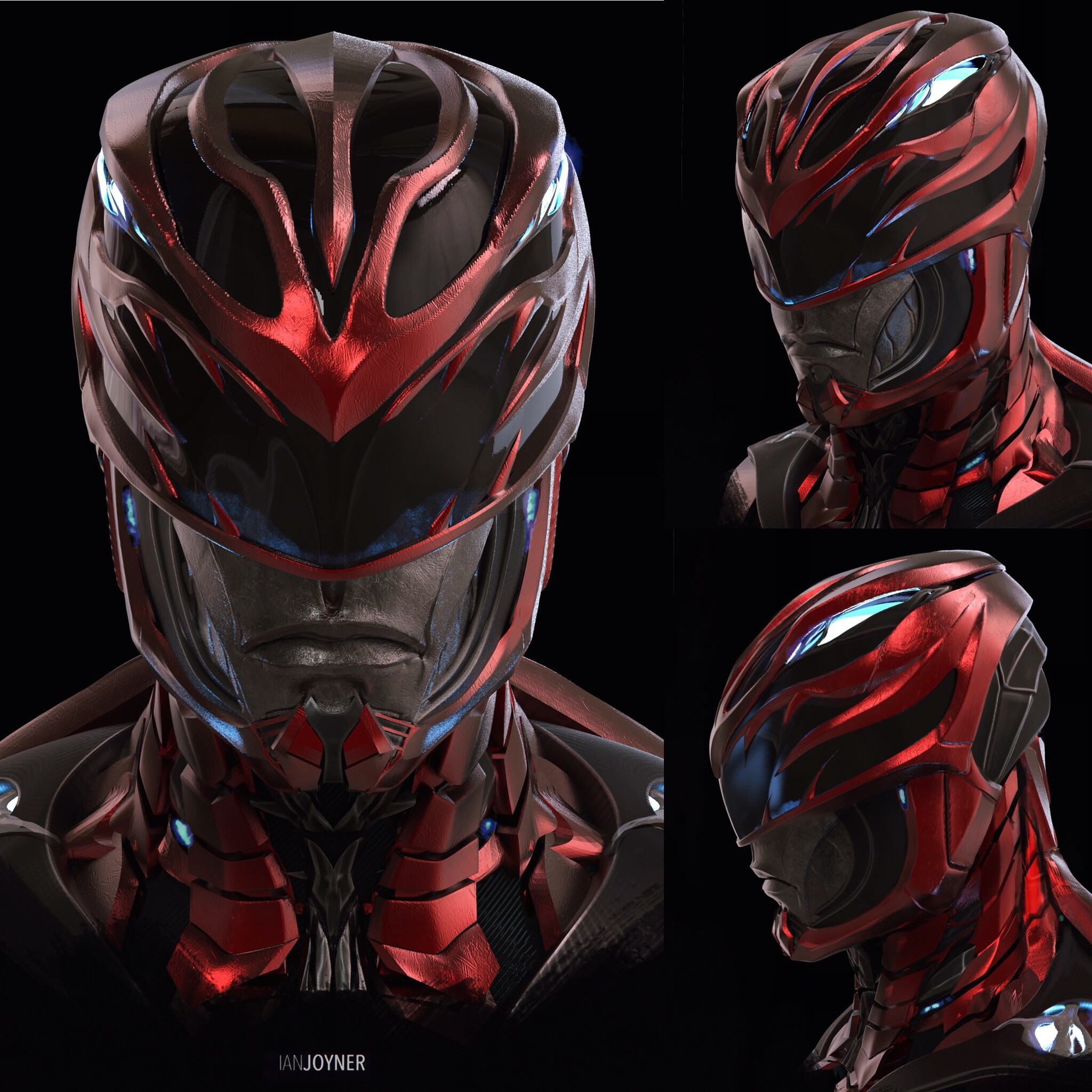 Red Ranger Helmet design pass