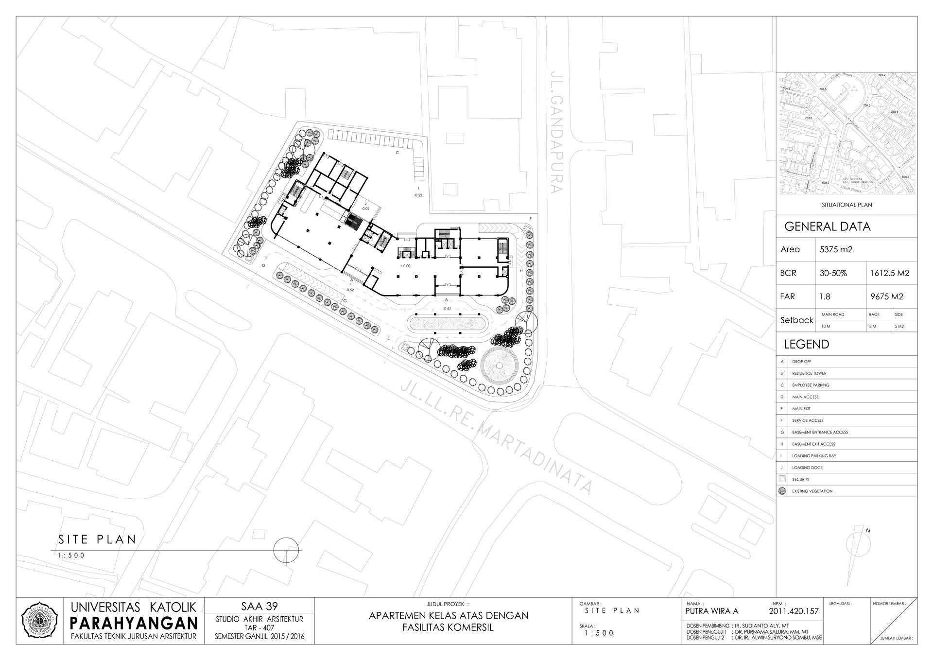 Putra wira adhiprajna 3 site plan