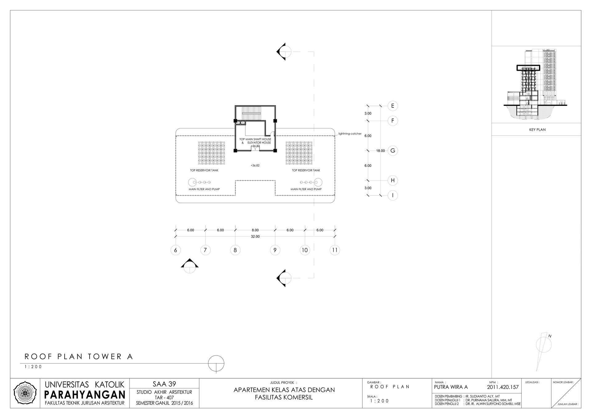 Putra wira adhiprajna 4 roof floor a