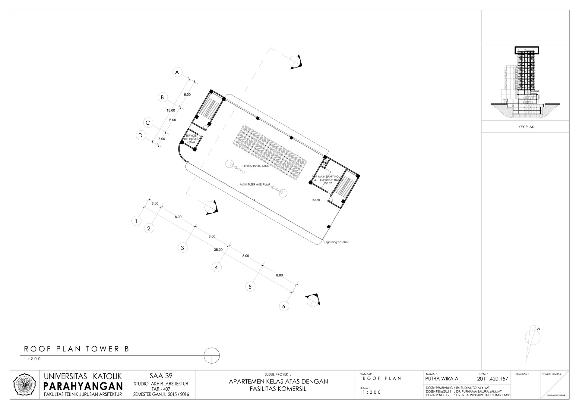Putra wira adhiprajna 4 roof floor b