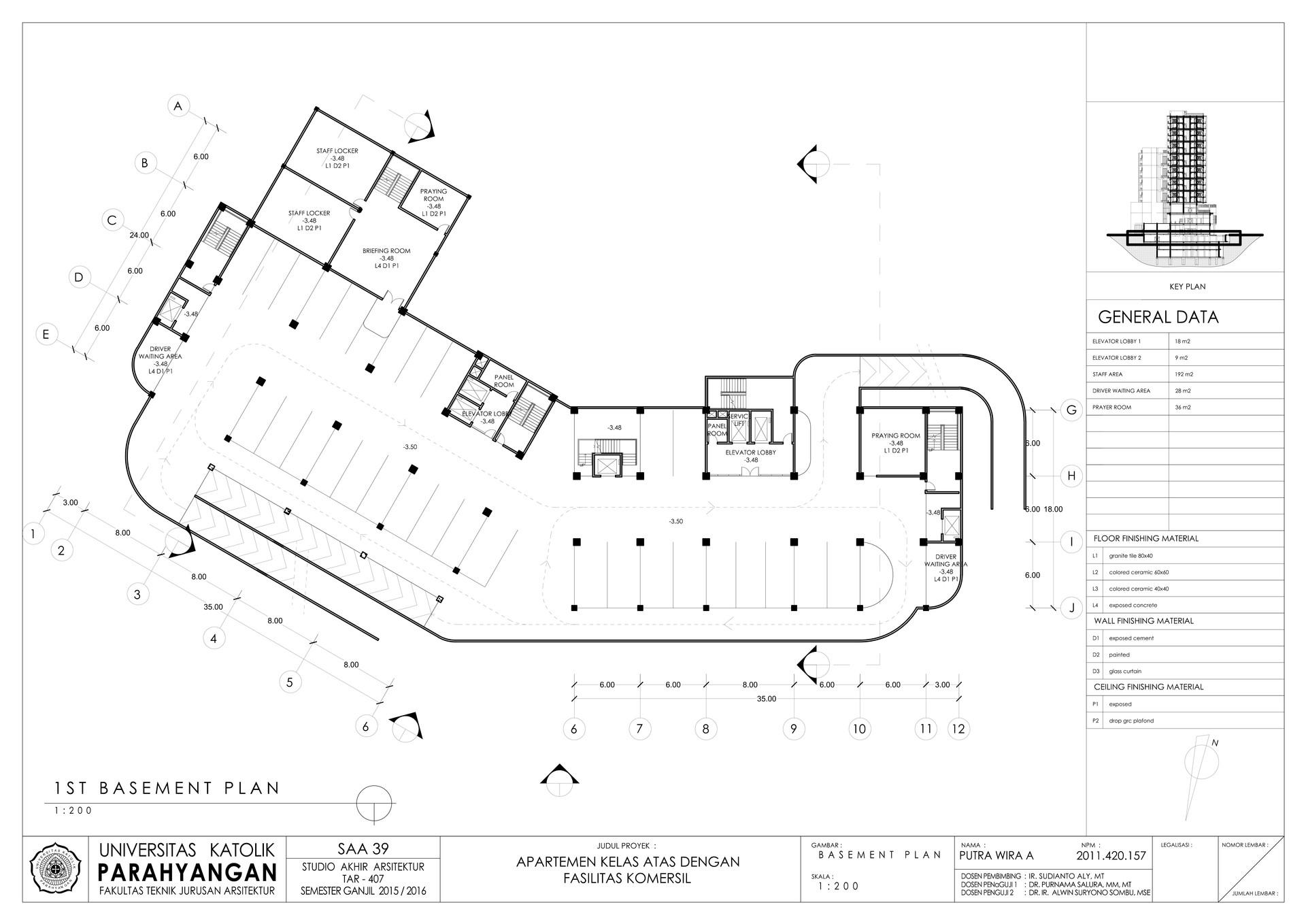 Putra wira adhiprajna 6 1st basement