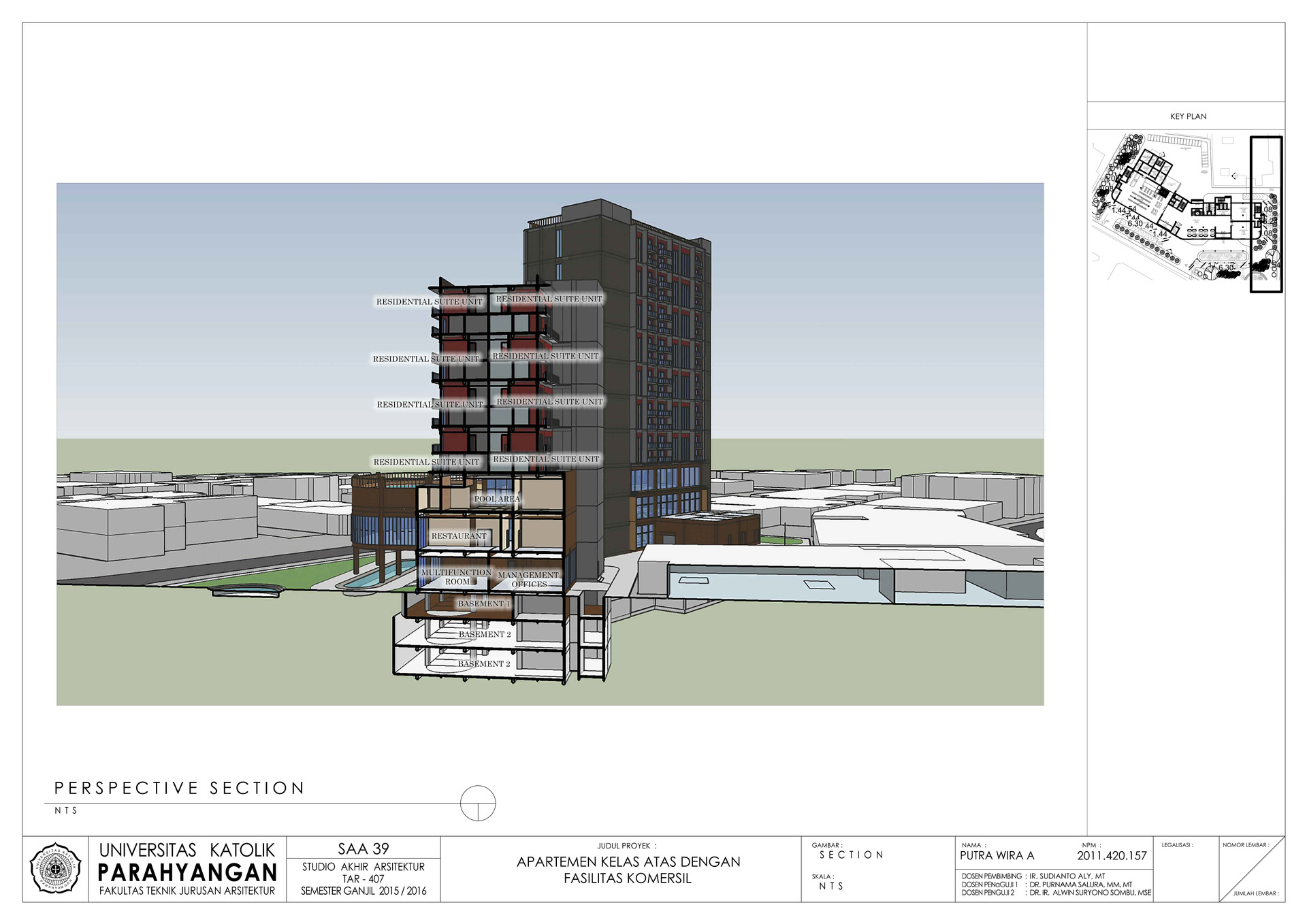 Putra wira adhiprajna 14 perspective section