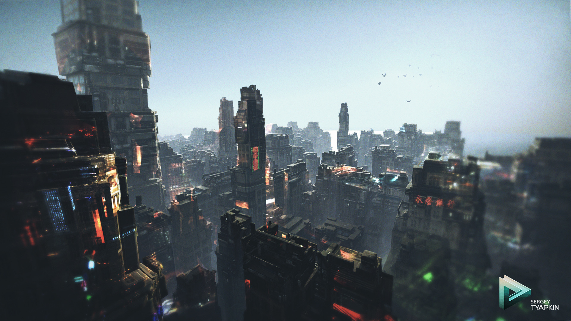 Sergey tyapkin scifi city concept scene 03