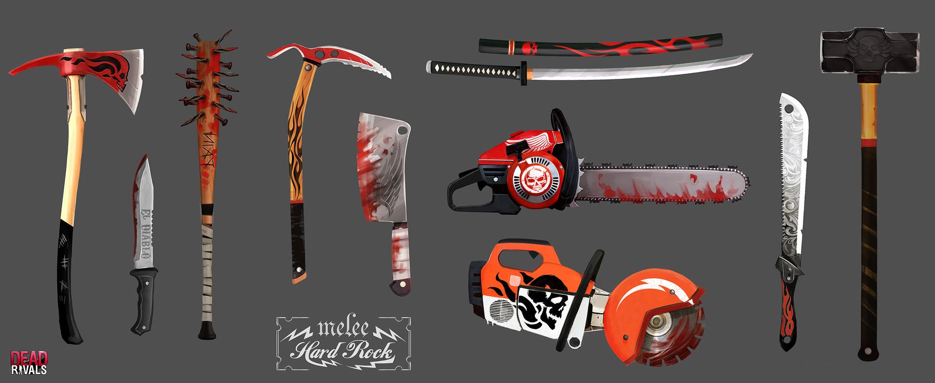 Alexandre chaudret dw props weapons 02