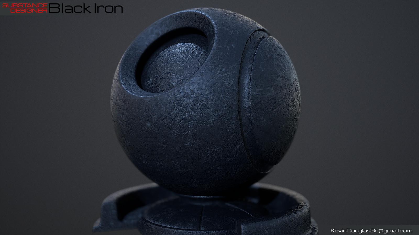 Black Iron Marmoset Render