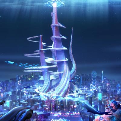 Godwin akpan beyond human underwater city