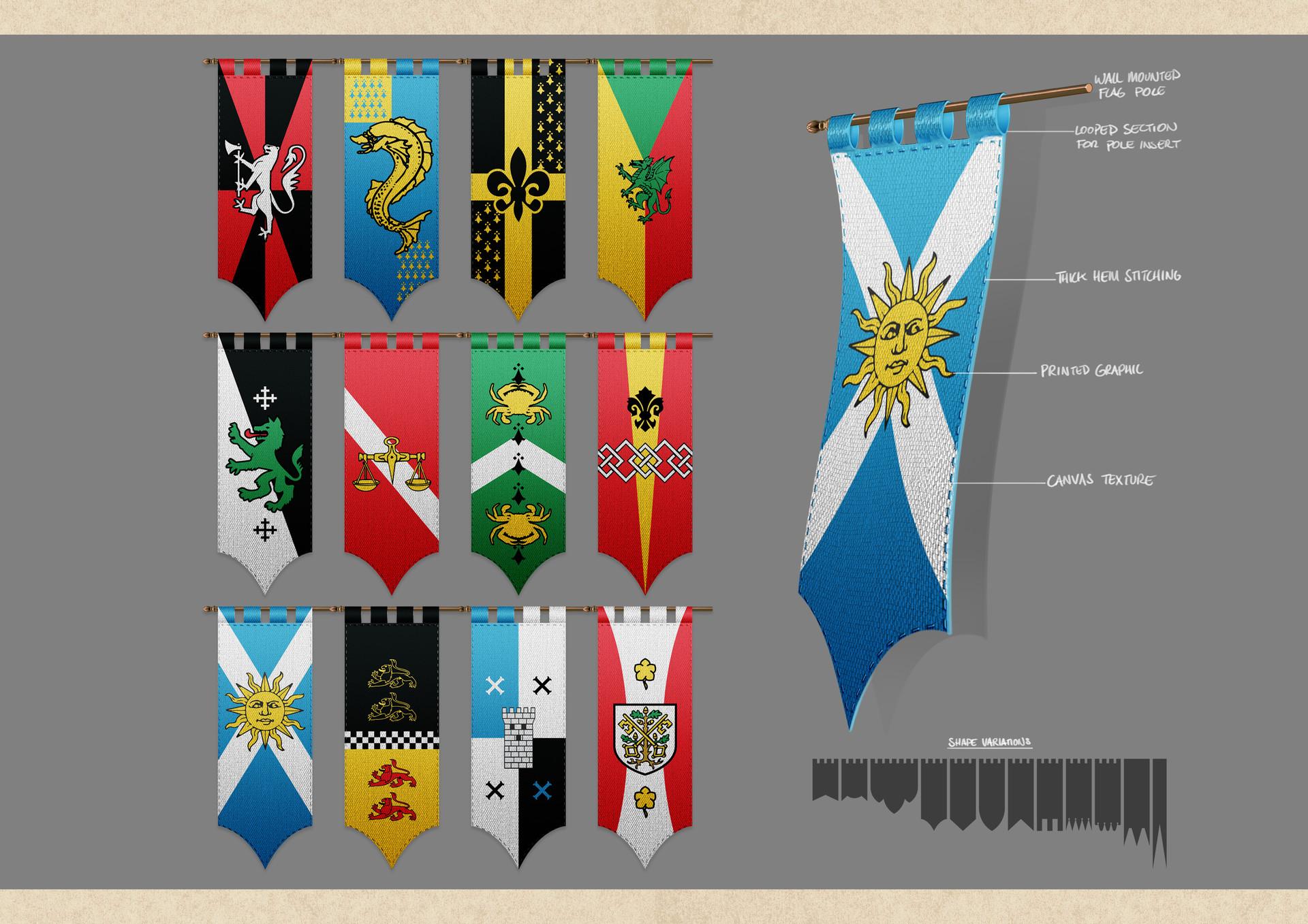 Tudor morris banners paint up