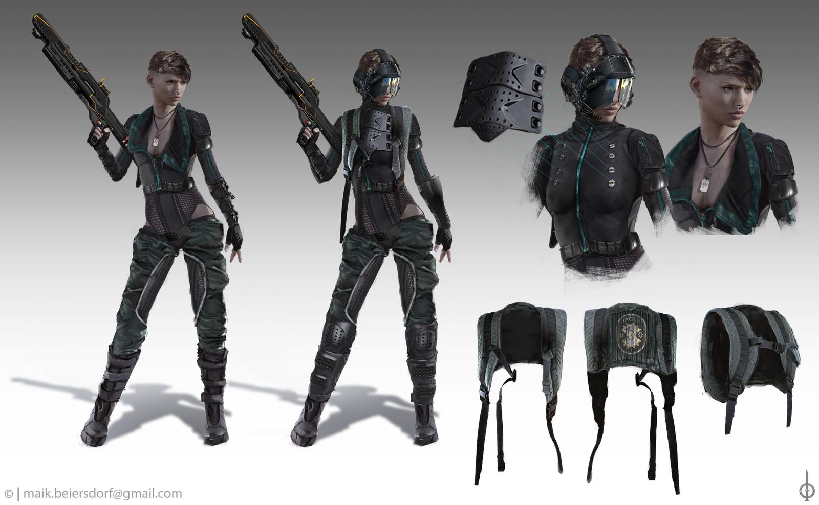 Female Commando Concept