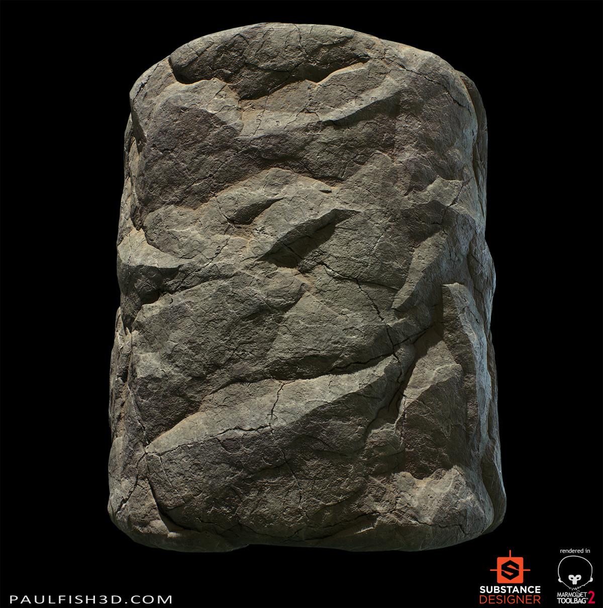 Paul fish wall stone