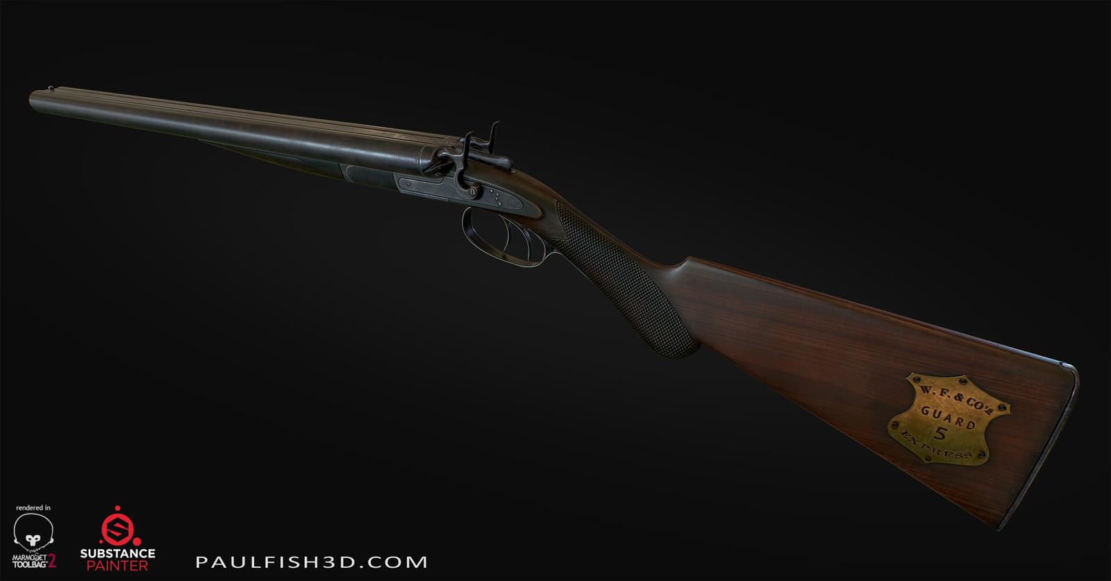 1882 Remington Double Barrel Shotgun