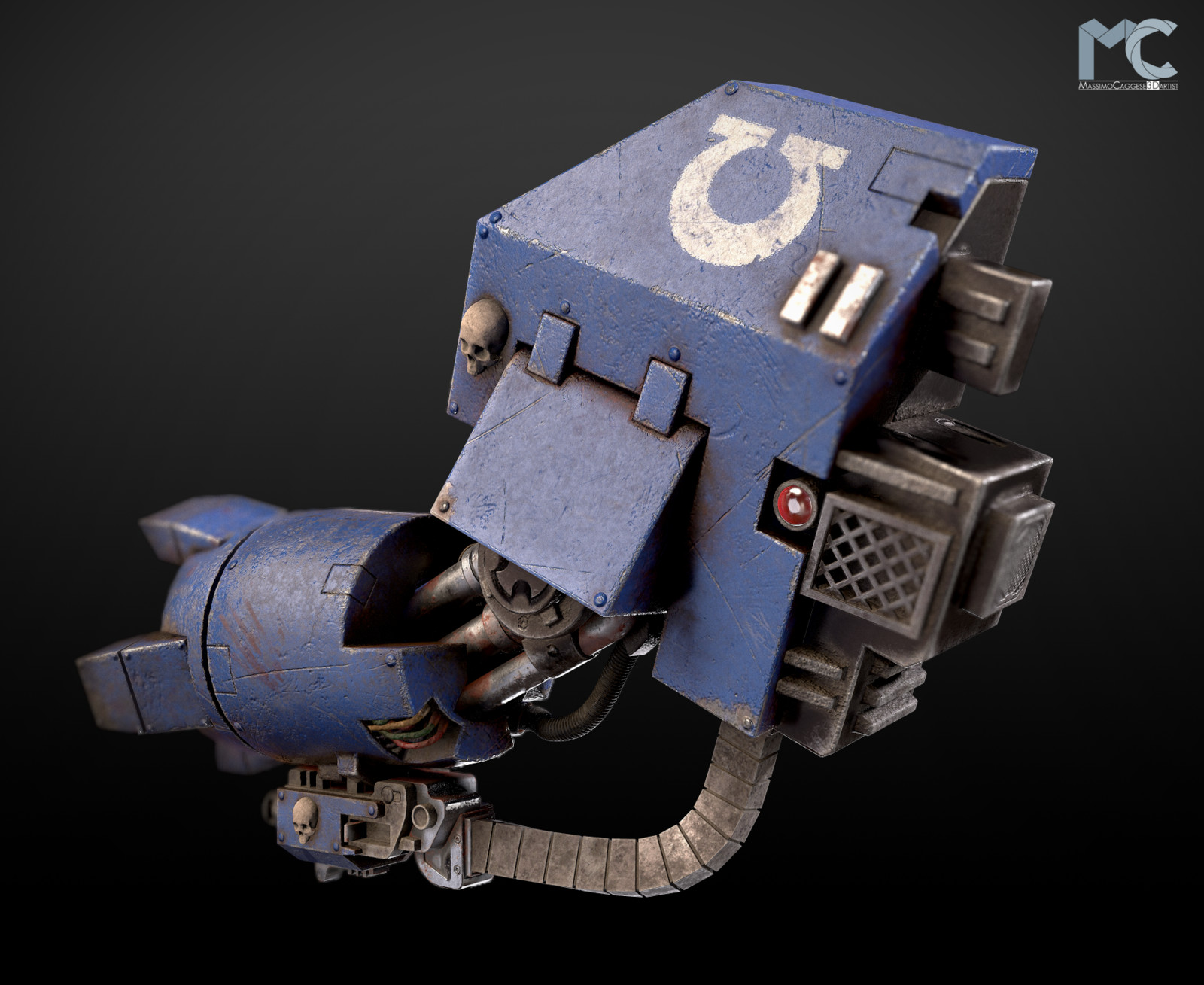 Back view (Marmoset Toolbag 3).