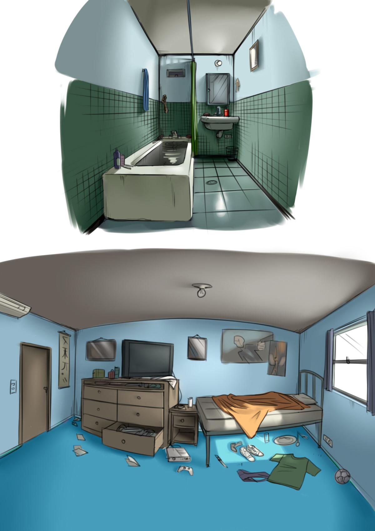 Steven galvan bucky home concept art