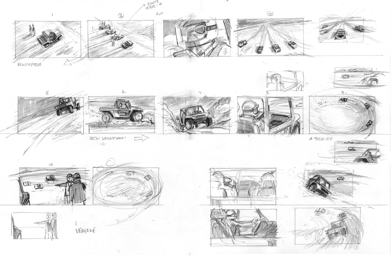 Polaris ATV Storyboards.