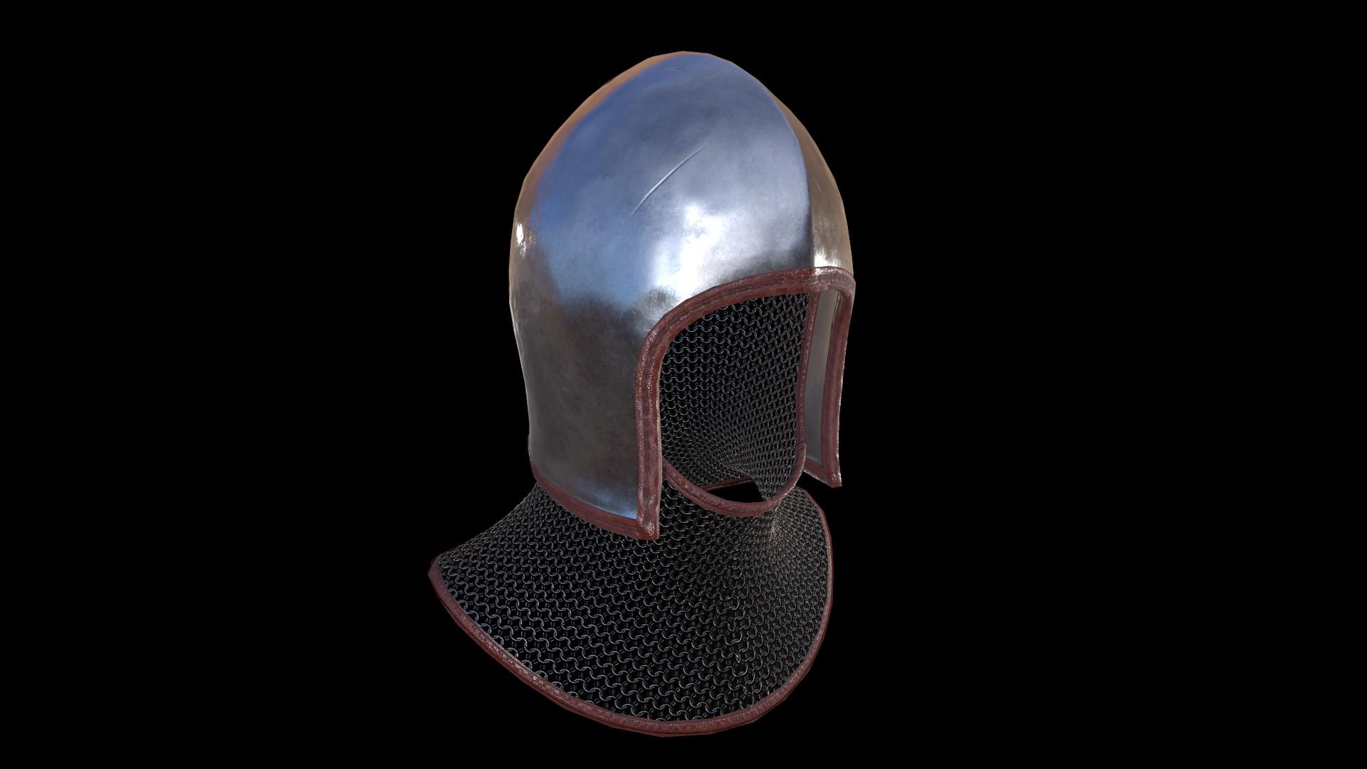 Artur Kushukov - Bascinet helmet
