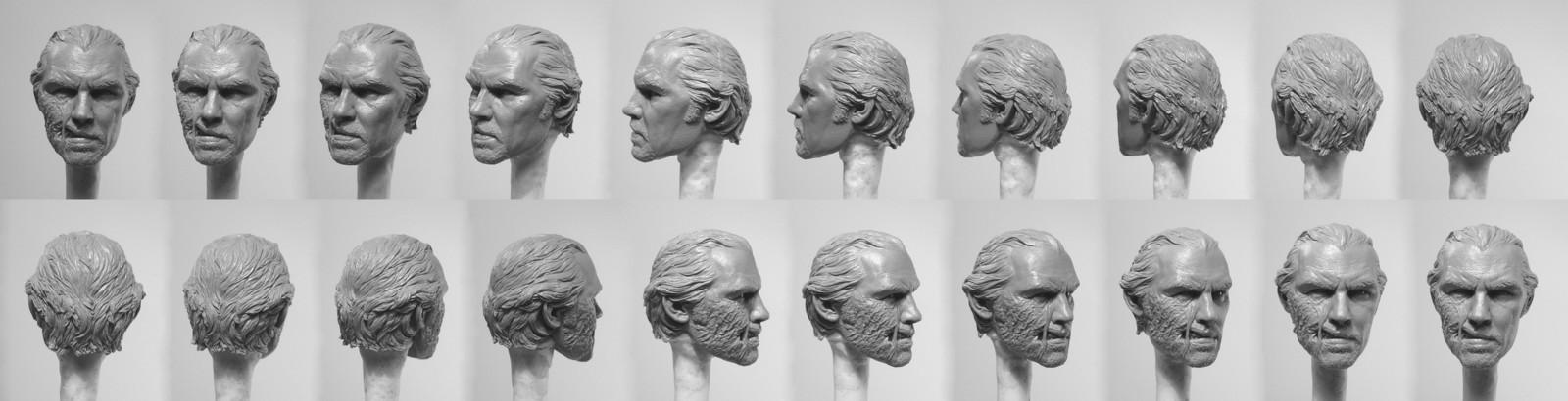 Portrait turns of raw casting
