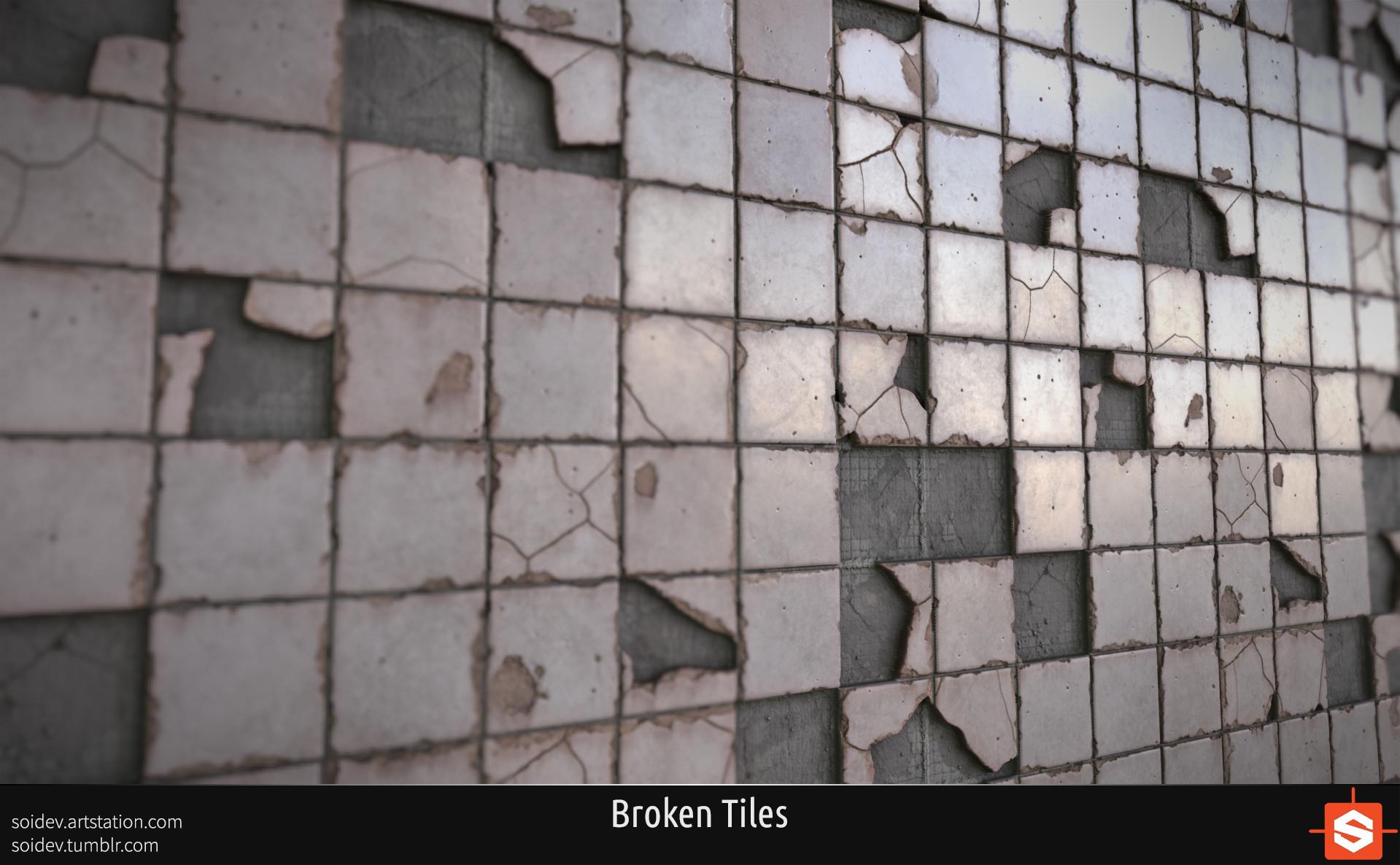 How To Tile Floor Mikhail Bakhirev Substance Designer Broken Tiles