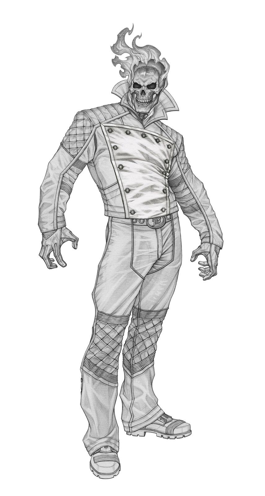 Pencil rendering - with bib