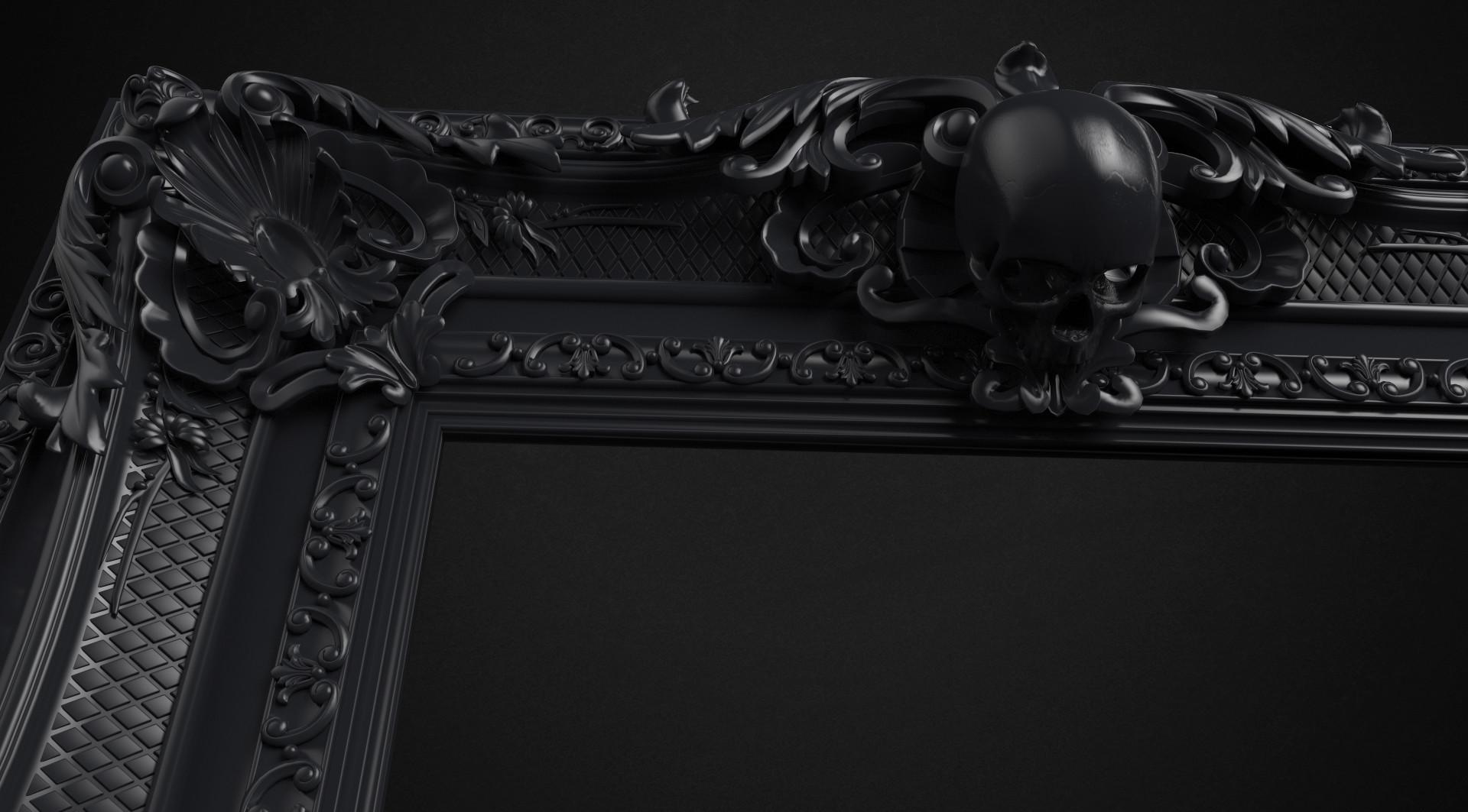 ArtStation - Skull Frame - 3D Printing Project, Binh Le